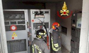 Fossano, principio d'incendio in una cabina elettrica dell'Enel in via del Lucchetto