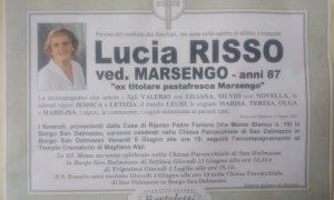 Oggi a Borgo San Dalmazzo l'ultimo saluto alla storica commerciante Lucia Risso Marsengo