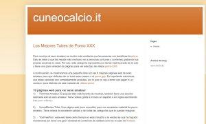 Il sito del 'vecchio' Cuneo Calcio è diventato una raccolta di siti pornografici
