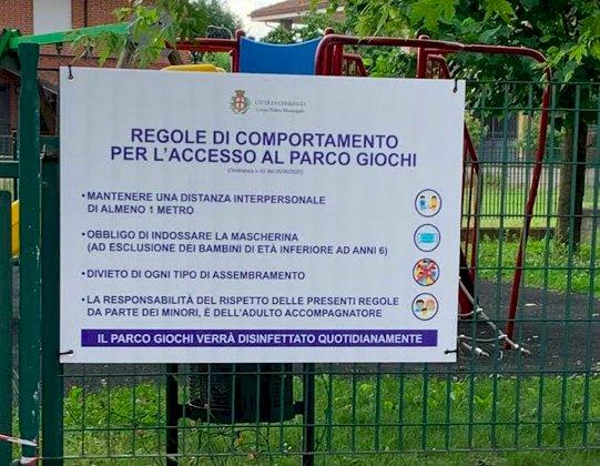 Cherasco riapre parchi gioco per bambini, giardini e aree verdi