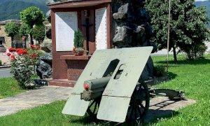 Rifreddo: restaurato l'obice Schneider utilizzato durante la Seconda Guerra Mondiale
