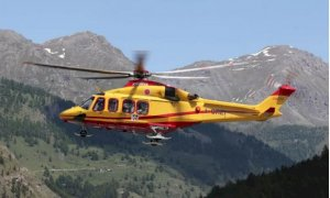 Elicottero del 118 a Pontechianale per soccorrere una bambina ferita
