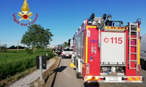 Moto contro trattore a Villafalletto, un centauro in ospedale a Cuneo