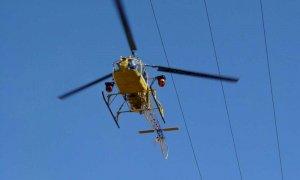 Oggi al via i controlli delle linee elettriche con l'elicottero