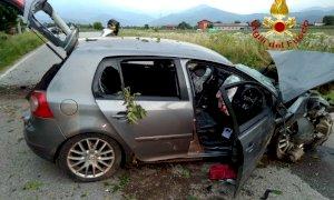 Auto fuori strada tra Cuneo e Boves, ferita anche una bimba di sei anni