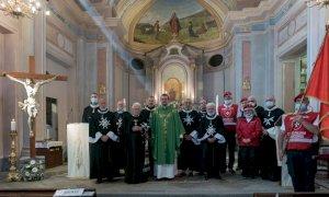 Una rappresentanza della delegazione piemontese dell'Ordine di Malta in pellegrinaggio al Santuario di Valmala