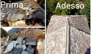 Peveragno, sistemato il tetto in 'lose' della cappella di San Giorgio