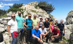 Il vicepresidente della Regione Fabio Carosso in visita nel parco del Marguareis