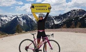 Passerà anche sulle strade della 'Fausto Coppi' l'iniziativa di Paola Gianotti per la sicurezza dei ciclisti