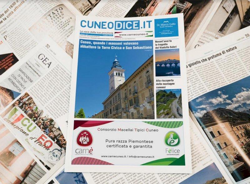 In distribuzione da lunedì 13 luglio la nuova rivista cartacea di Cuneodice.it