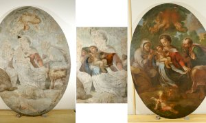 Restaurata la tela della chiesa di Sant'Anna a Chiusa Pesio
