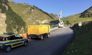 Nuovi lavori di consolidamento sulla statale del Colle della Maddalena ad Argentera