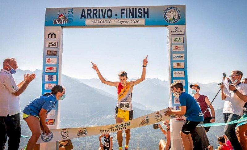 Henry Aymonod della Sportification Cuneo vince il Piz Tri Vertical 2020