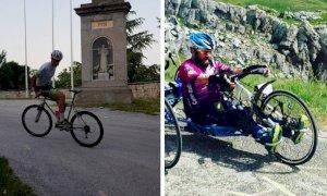 Ciclista cuneese pronto all'impresa: da Valgrana al colle Fauniera pedalando al contrario
