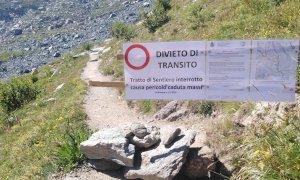 Frane sulla parete nord est del Monviso, chiuso un tratto di sentiero