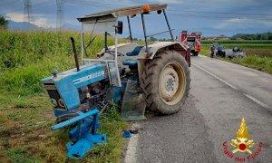 Scontro tra auto e trattore a Margarita, soccorso il conducente della macchina