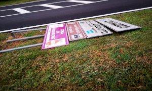 A Lagnasco danni ingenti dopo la bufera: a terra alberi e segnali stradali