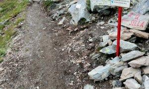 Sistemato il sentiero alternativo per l'accesso al Rifugio Quintino Sella
