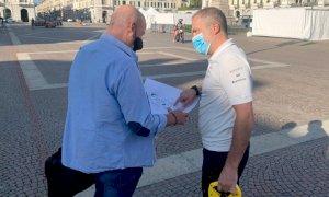 Cuneo, fervono i preparativi per trasformare piazza Galimberti nel 'dehor più grande d'Italia'