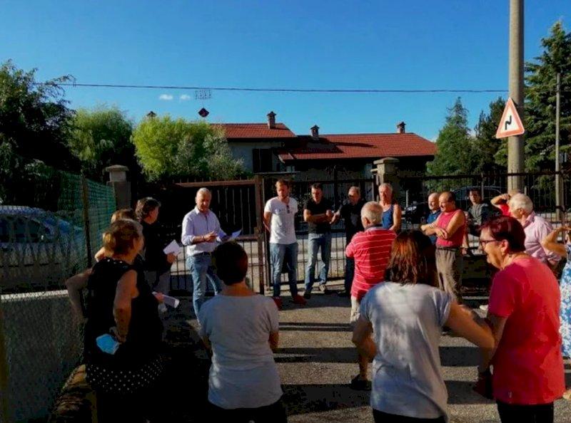 Un'immagine delle proteste dello scorso luglio a Tetti Roero