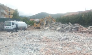 Busca, prosegue il cantiere per il nuovo polo scolastico: demoliti i capannoni dell'ex consorzio agrario