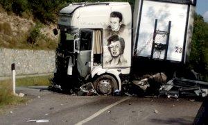 Incidente in frazione Patera a Demonte, coinvolto un mezzo pesante