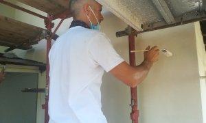 Borgo San Dalmazzo, stanno per concludersi i lavori di restauro del tetto del Santuario di Monserrato