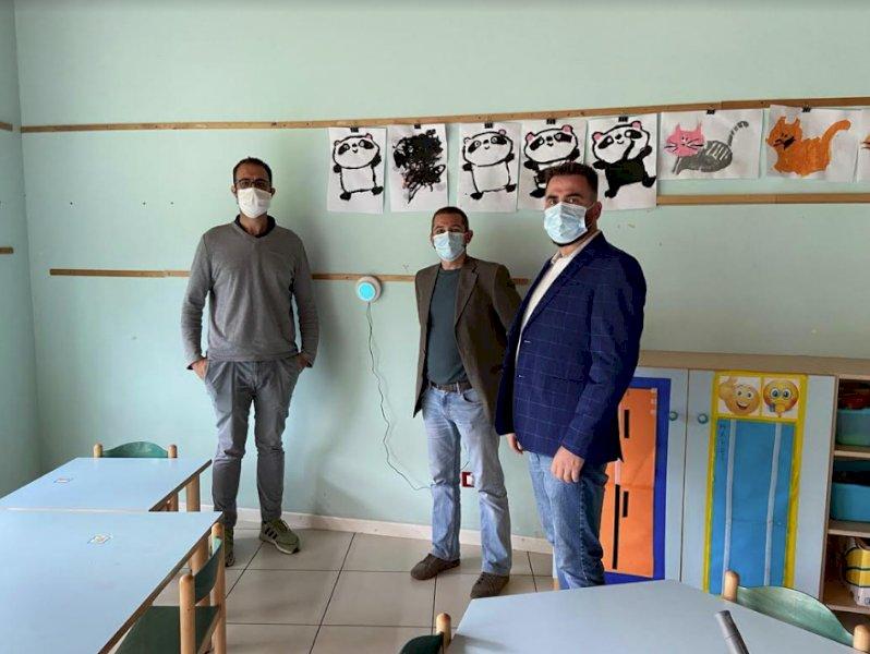 Alla scuola dell'infanzia di Chiusa di Pesio installati tre dispositivi per monitorare la qualità dell'aria
