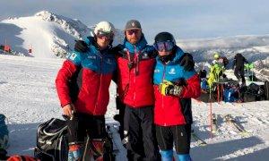 Sci alpino, diversi giovani cuneesi in allenamento sul ghiacciaio dello Stelvio