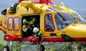 Valle Vermenagna, sopralluoghi in elicottero negli alpeggi dopo l'ondata di maltempo