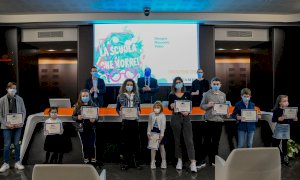 La Fondazione CRC ha premiato i vincitori del concorso 'La Scuola che Vorrei'