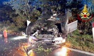 Auto ribaltata a San Sebastiano di Fossano: illesi gli occupanti