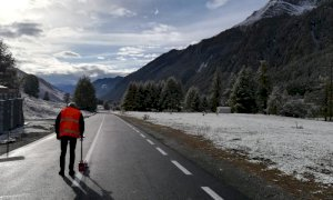 Il Colle dell'Agnello è pronto per il Giro d'Italia (ma resta l'incognita meteo)