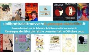 'Un libro tira l'altro', ecco i libri più letti e commentati del mese di ottobre
