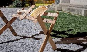 Trincee davanti ai monumenti della Grande Guerra, l'azione di Casapound per il 4 novembre