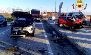 Incidente sulla Bovesana, tre auto coinvolte