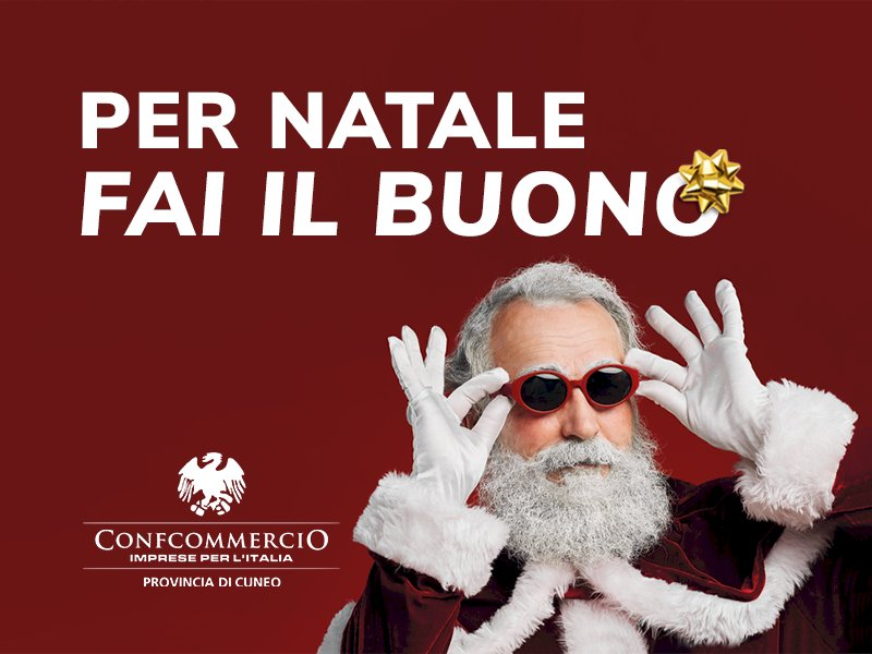 'Per Natale fai il buono': l'iniziativa di Confcommercio Cuneo a sostegno del commercio locale