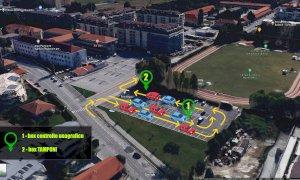 Cuneo, ecco come funzionerà la nuova area 'Drive through' per i tamponi Covid