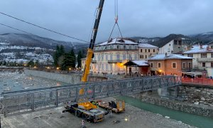Garessio, sabato aprirà la passerella provvisoria al posto del ponte Odasso