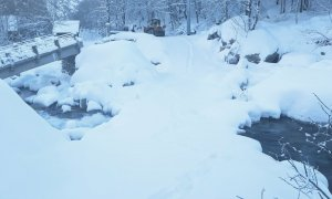 Valle Gesso, chiuse per neve le provinciali per Terme di Valdieri e San Giacomo