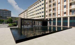 """Il parcheggio sotterraneo di piazza Europa sarà """"più piccolo"""" e spunta... un padiglione"""