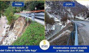L'Anas ha completato gli interventi post alluvione lungo la statale 20 in valle Vermenagna