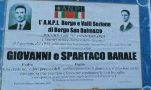 Anche senza la tradizionale cerimonia, l'Anpi 'Borgo e Valli' ricorda Giovanni e Spartaco Barale