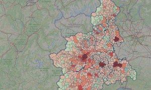 In Piemonte a novembre decessi raddoppiati rispetto alla media 2015-2019