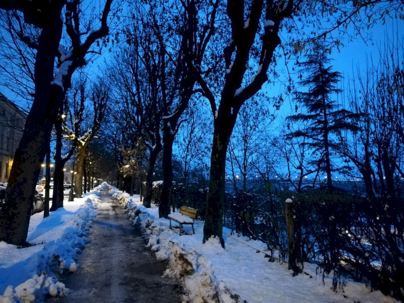 La neve imbianca Cuneo e la Granda nel primo scorcio del 2021 (FOTOGALLERY)