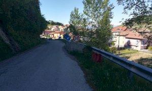 Lavori di consolidamento per la frana di Monforte d'Alba, in località Panirole
