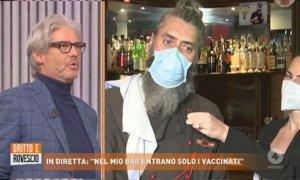 ''Riapriamo solo per chi è vaccinato'': la proposta della Birrovia alla trasmissione 'Dritto e Rovescio'