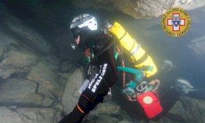 Esercitazione dei tecnici di soccorso speleosubacqueo del CNSAS nella Grotta dell'Orso