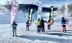 Nello slalom Allievi del trofeo 'Hero Europe' Allievi a Limone vincono Edoardo Simonelli e Lara Colturi