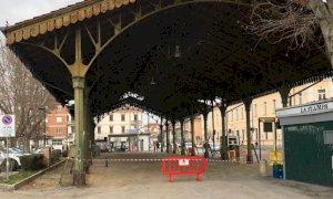 Bra: terminati i lavori alla tettoia di piazza Giolitti